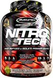 MuscleTech NitroTech Whey Protein Powder, Whey Isolate and Peptides, Cookies and Cream, 4.00 pounds