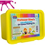 NEW! Slime Making Kit Make Your own DIY SLIME with 8 CONTAINERS with LIDS. STEM TOY. PROFESSOR SLIME Supplies with BONUS GLOW IN THE DARK, COLOUR CHANGE, 12 Glitter, 7 Liquid Colours, Clay, Foam Balls