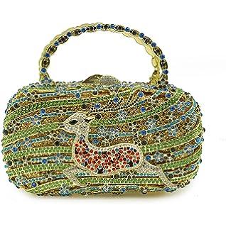Damen Clutch Bag Fashion Silk Abendtasche Handgemachte Perlen Blumen Dinner Bankett Tasche Knödel Handtasche Kette Tasche,Coffee-27*3.5*12cm Addora