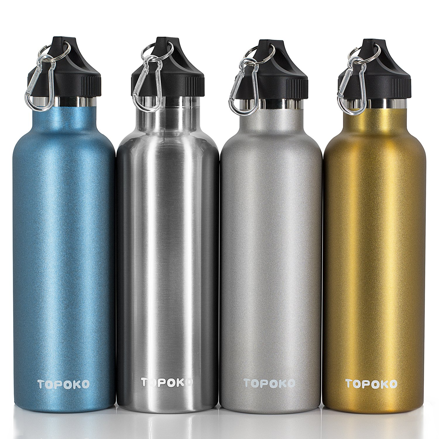 Stainless Steel Vacuum Insulated Water Bottle Double Wall - TOPOKO Top Quality Hydration Thermos - Camping Hiking Travel No Leak Rust Resistant Colored - 25 oz, Gold by TOPOKO (Image #10)