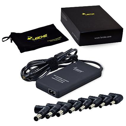 LEICKE Cargador universal de 90W para Notebooks, Ordenadores portátiles, Tablets y Ultrabooks de ACER, Asus, Dell, Lenovo, Samsung, Sony, Toshiba | ...