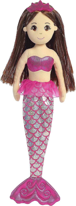Ruby Aurora World Sea Sparkles Mermaid Plush