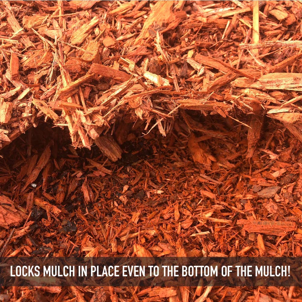 DOMINATOR 5 Gallon Mulch Anchor - Locks Mulch, Ready to Use Adhesive, Long Lasting by DOMINATOR (Image #2)