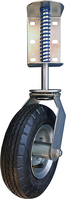 Gate Caster Wheel Hardware 4 In Spring Loaded Swivel Pneumatic Fence Universal