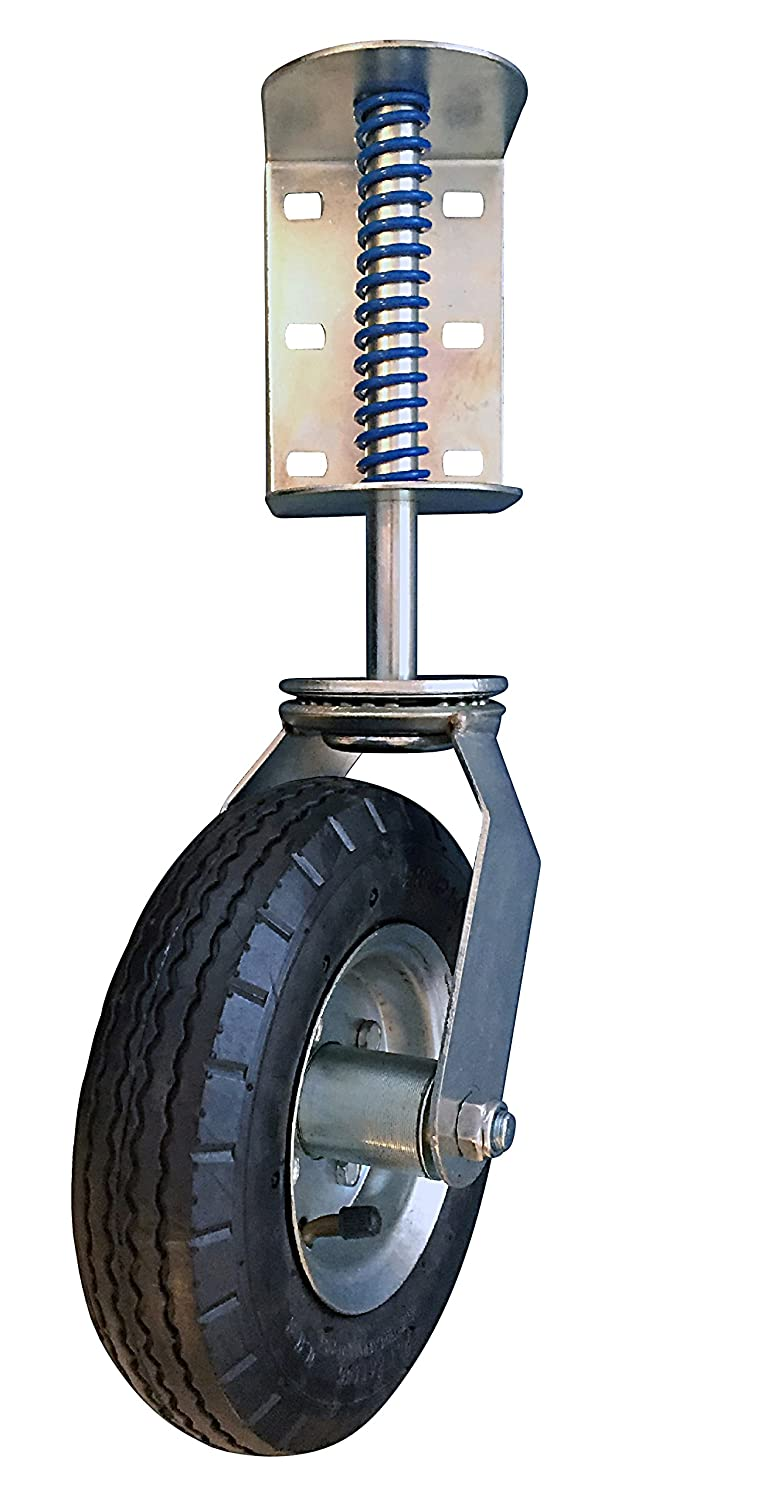 200-lb Load Capacity and Universal Mount Shepherd Hardware 9798 8-Inch Pneumatic Spring-Loaded Gate Caster