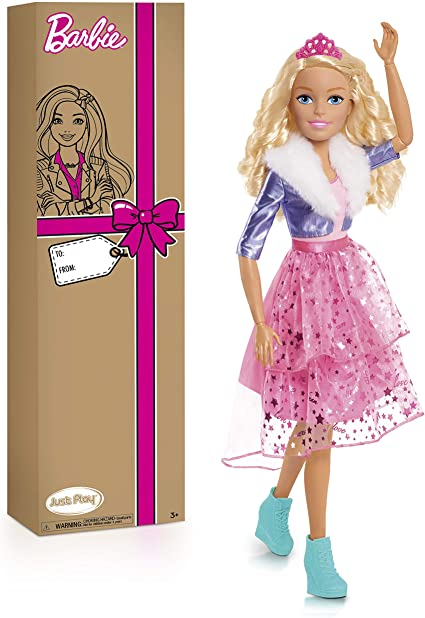 Ages 3+ Blonde Hair Barbie 28-Inch Best Fashion Friend Doll