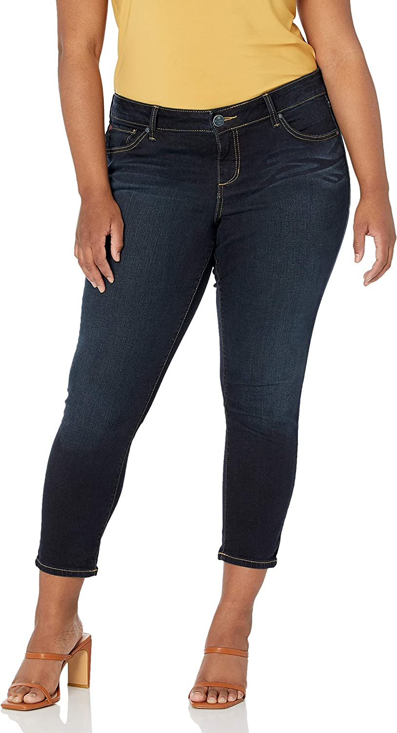 SLINK Jeans Women's Plus Ranking TOP2 Skinny Ankle Dealing full price reduction Size Summer