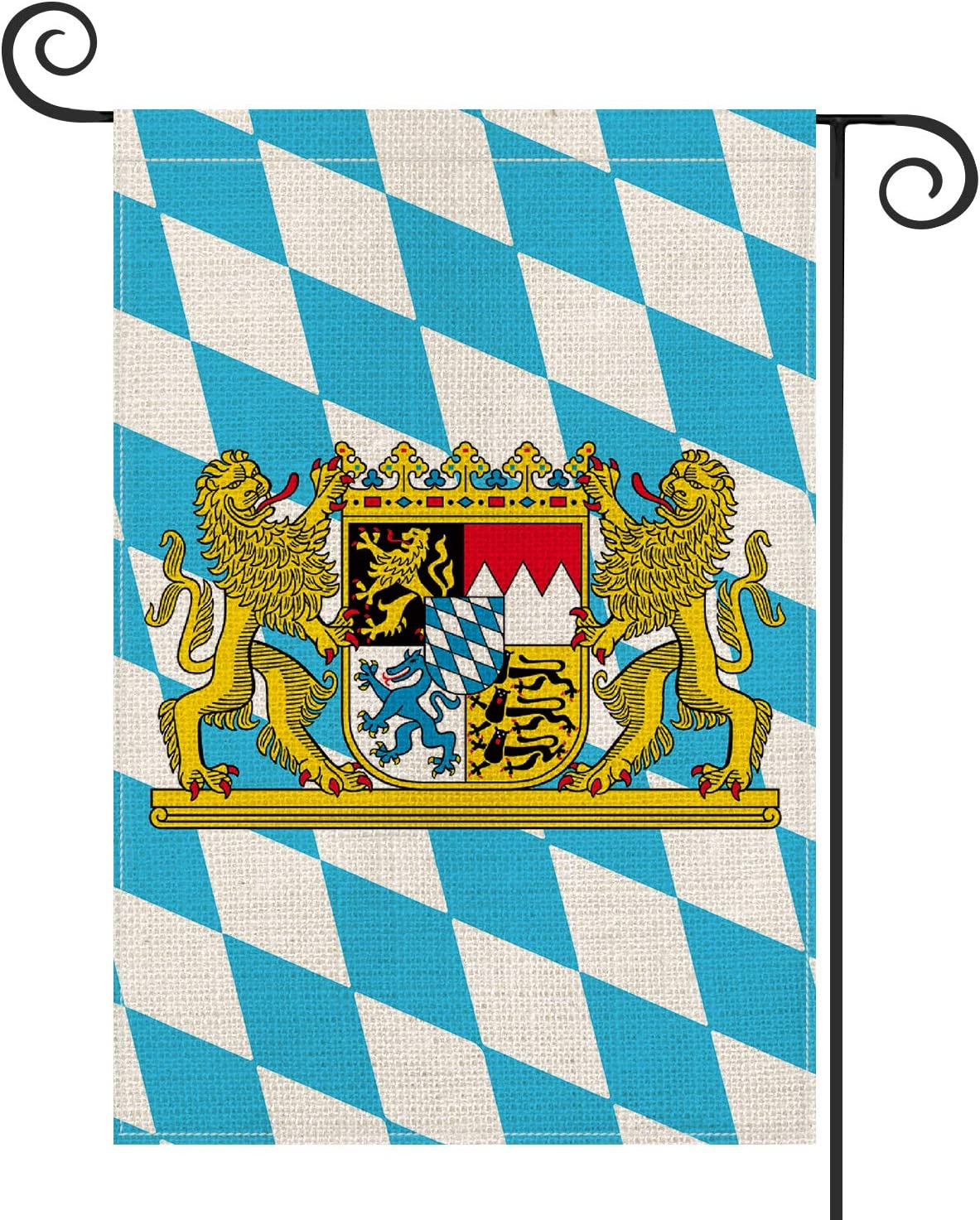 AVOIN Oktoberfest Bavarian Lion Crest Garden Flag Vertical Double Sided, German Octoberfest Yard Outdoor Decoration 12.5 x 18 Inch