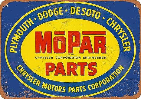 Amazon com: Mopar Motor Parts Vintage Look Metal Signs Home
