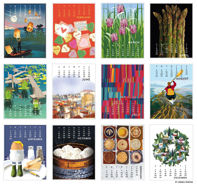 Amazon Linnea Design 2018 Desktop Calendar 5 X 7 Inches Art by Johanna Riley fice Desk Pad Calendars fice Products