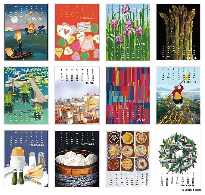 Amazon Linnea Design 2018 Poster Calendar Art By Johanna