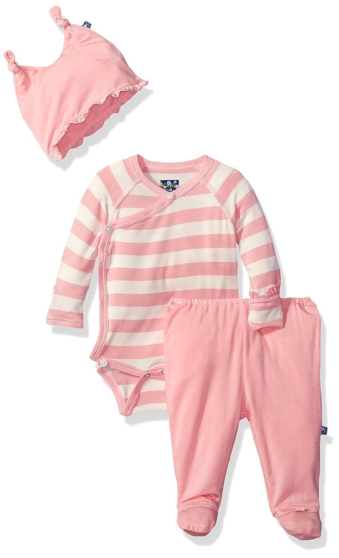 Kickee Pants Baby Girls Essentials Ruffle Kimono Newborn Git Set with Hanger