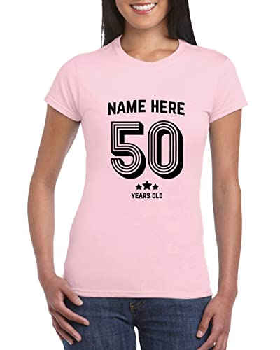 GIFTS FOR 50 YEAR OLD WOMAN WHO HAS EVERYTHING UK 50th Birthday T Shirt For Women Add Name Age Personalised