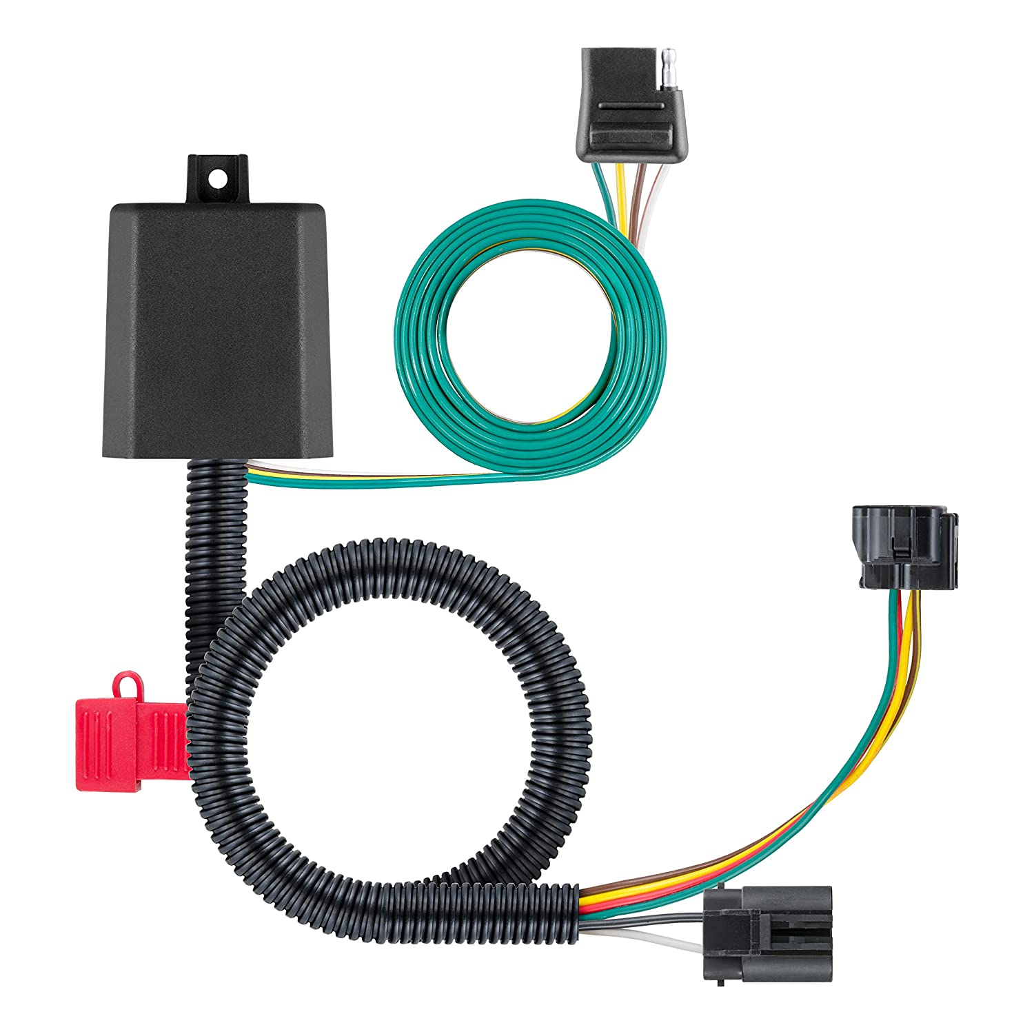 Of T One Vehicle Wiring Harness With 4 Pole Flat Trailer Connector