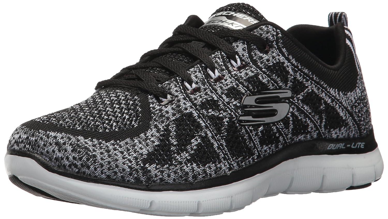 Skechers Women's Flex Appeal 2.0-New Gem Sneaker B01N76KLDC 9.5 B(M) US|Black/White