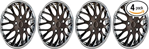 Pack of 4 45794 Matte Charcoal 17 Premium Quality Hubcap, HS