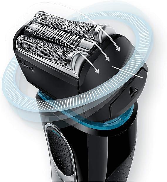 Braun Series 5 5147 s - Afeitadora eléctrica hombre, Afeitadora Barba, en Húmedo y Seco, Recortadora de Precisión ...