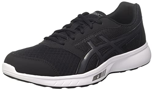 84a83b7e39d25 ASICS Women's Stormer 2 Running Shoes, Black/Carbon/White 9097, ...