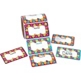 """Hibiscus Luau Name Tags/labels (100 Pack) 3 1/2"""" X 2 1/4"""". Paper"""