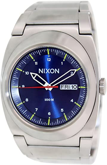 Nixon Mens A358-1258 The Don Silver/Blue Stainless Steel Watch