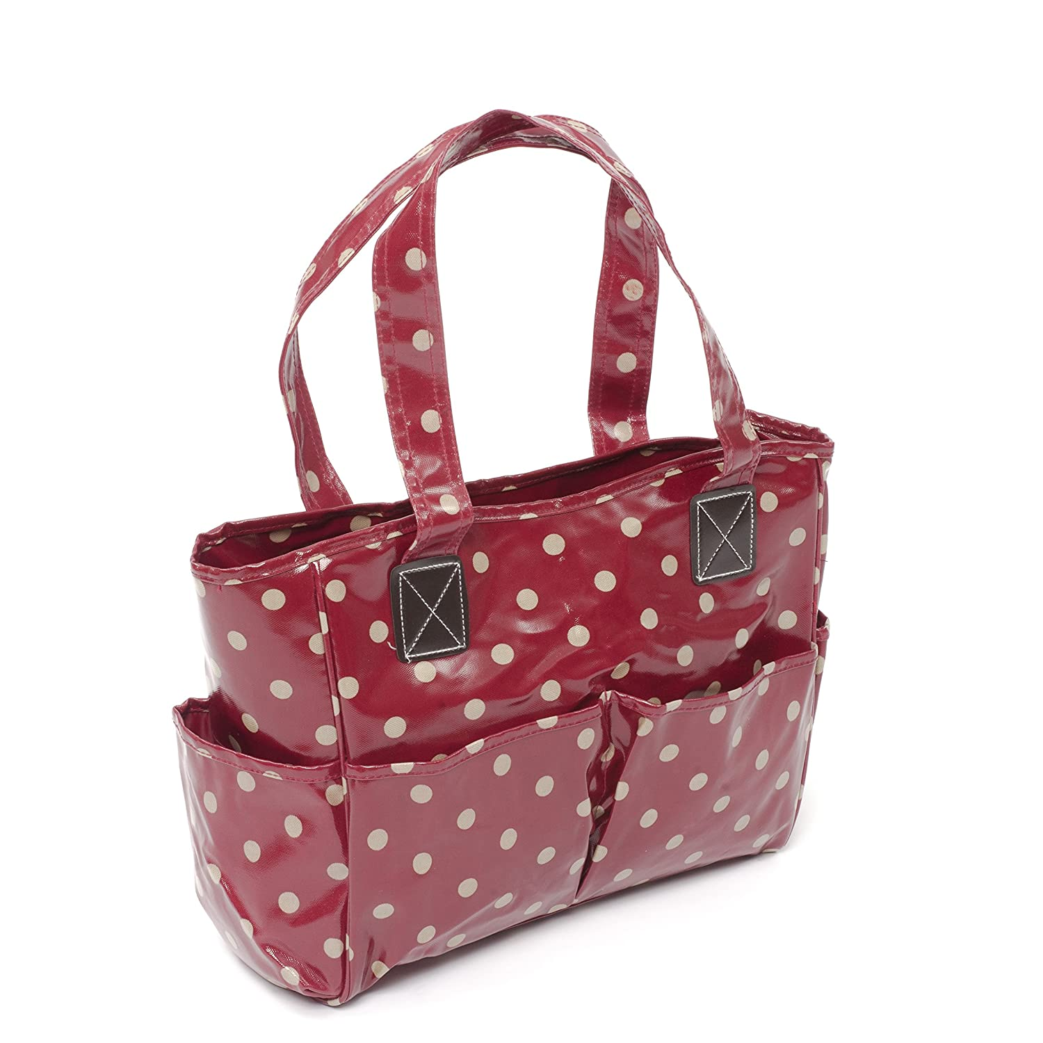 Craft Bag MRB\263 HobbyGift Charcoal Polka Dot Matt PVC