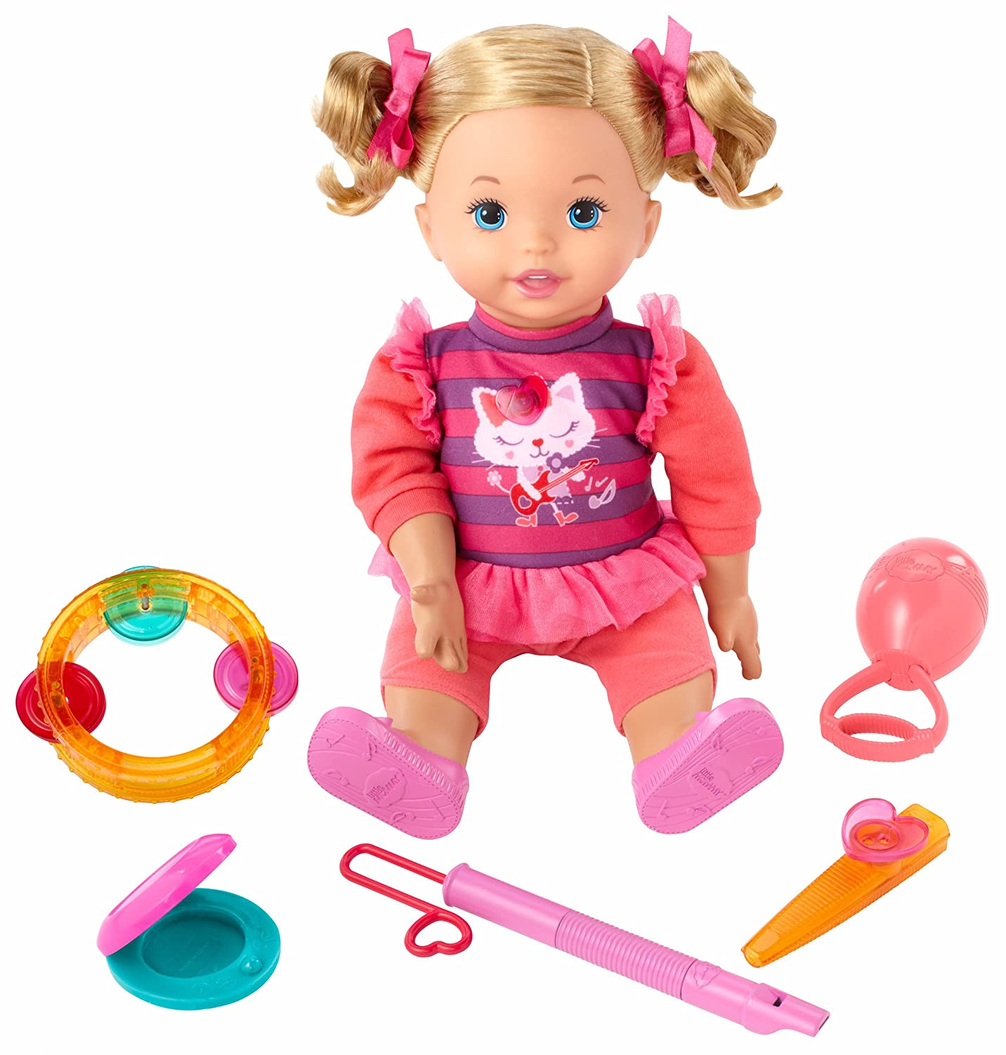 Amazon Little Mommy Let s Make Music Doll Toys & Games