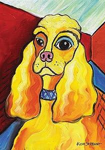 Toland Home Garden Pawcasso Cocker Spaniel 12.5 x 18 Inch Decorative Puppy Dog Portrait Garden Flag
