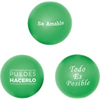3-Pack Cute Motivational Stress Ball for Adults & Kids in Spanish