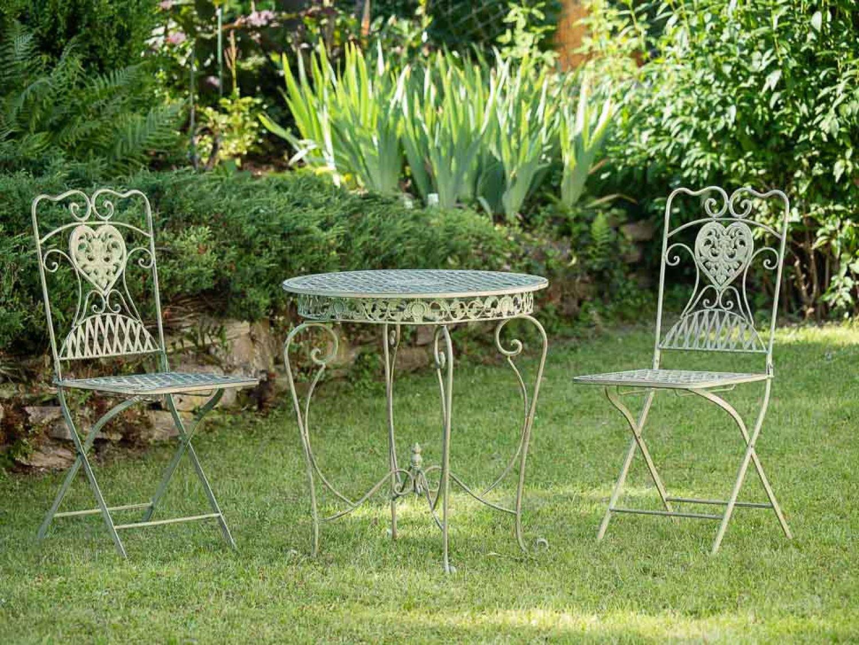 Amazon.de: Gartenset Bistroset Gartentisch 2 Stühle Eisen Antik-Stil ...