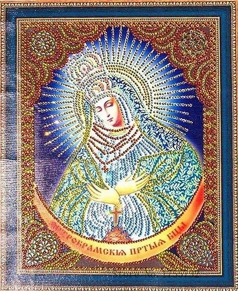 5D Diy Diamante Pintura Religión Icono Bordado Virgen María ...