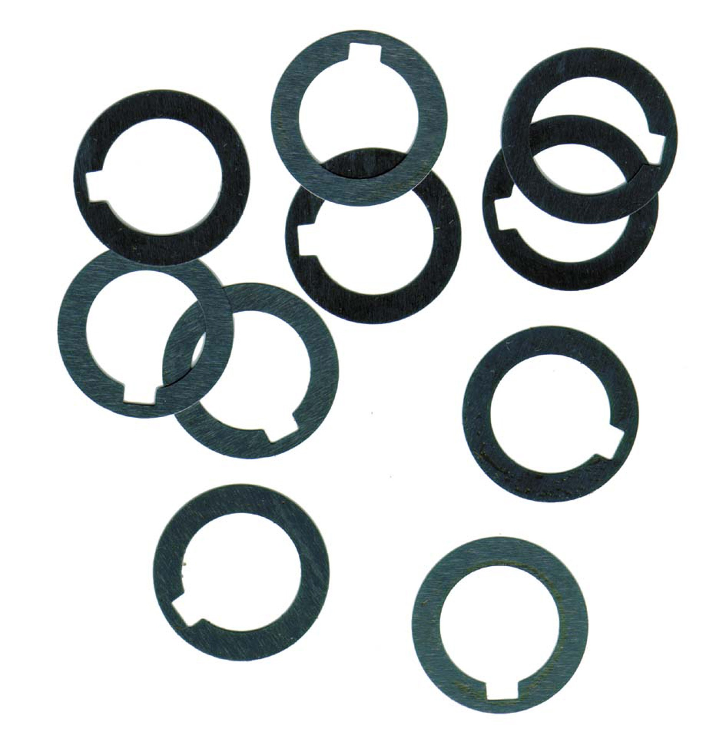 1008/1010 Carbon Steel Notched Shim, Matte Finish, Hard Temper, AISI 1008/AISI 1010, 0.047'' Thickness, 1-3/4'' ID, 2-3/4'' OD (Pack of 10) by Small Parts
