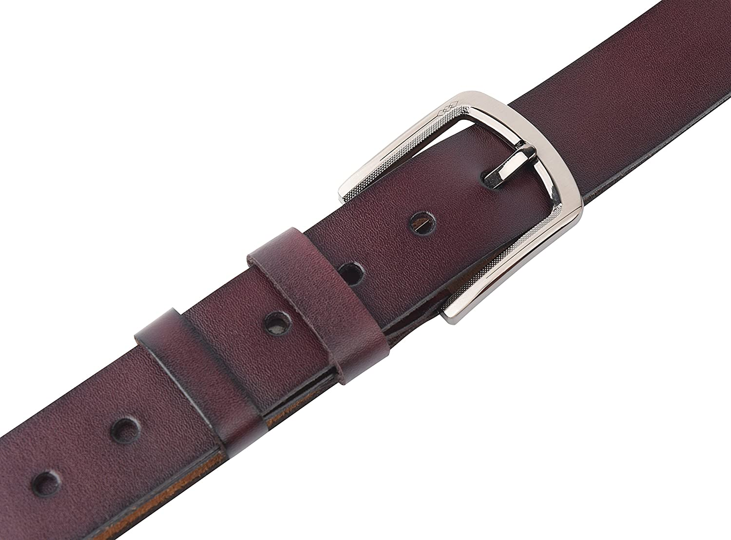 Men/'s Genuine Leather Vintage Belt with Single Prong Buckle Brown Size 32-45