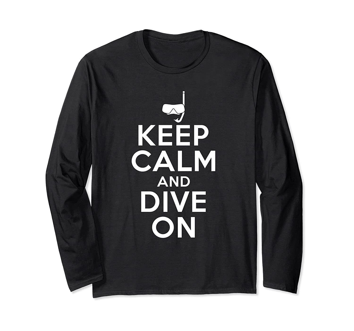 'Keep Calm And Dive On' Cool Swimming Scuba Shirt-mt