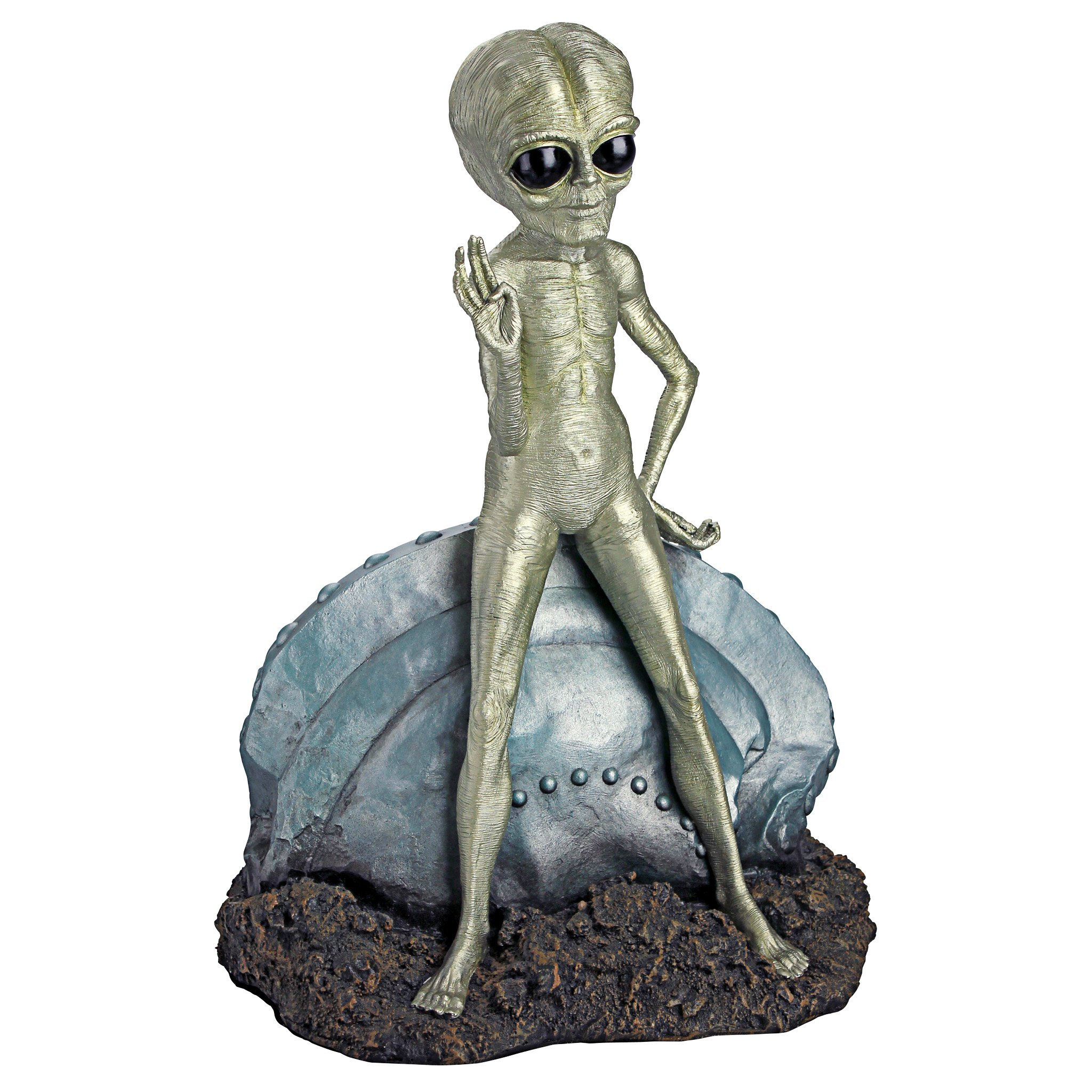 Design Toscano Roswell, the Alien Sculpture by Design Toscano