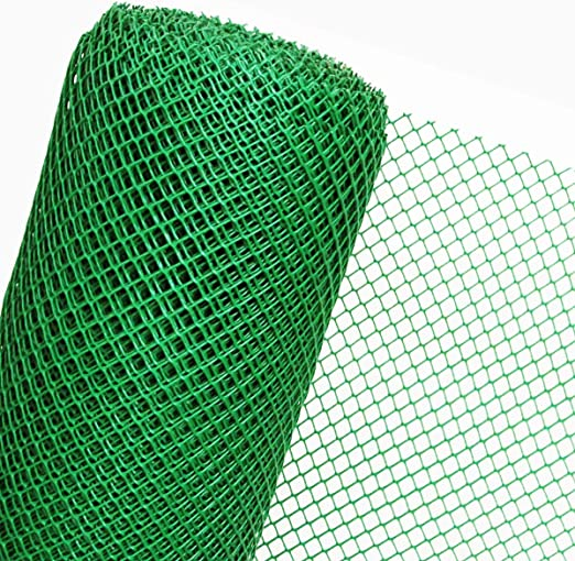 30 m² plástico Valla en 1,2 m Altura X 25 M Longitud Malla de 20 mm Valla de jardín verde: Amazon.es: Jardín