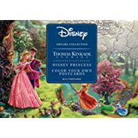 Disney Dreams Collection Thomas Kinkade Studios Disney Princess Color Your Own Postcards
