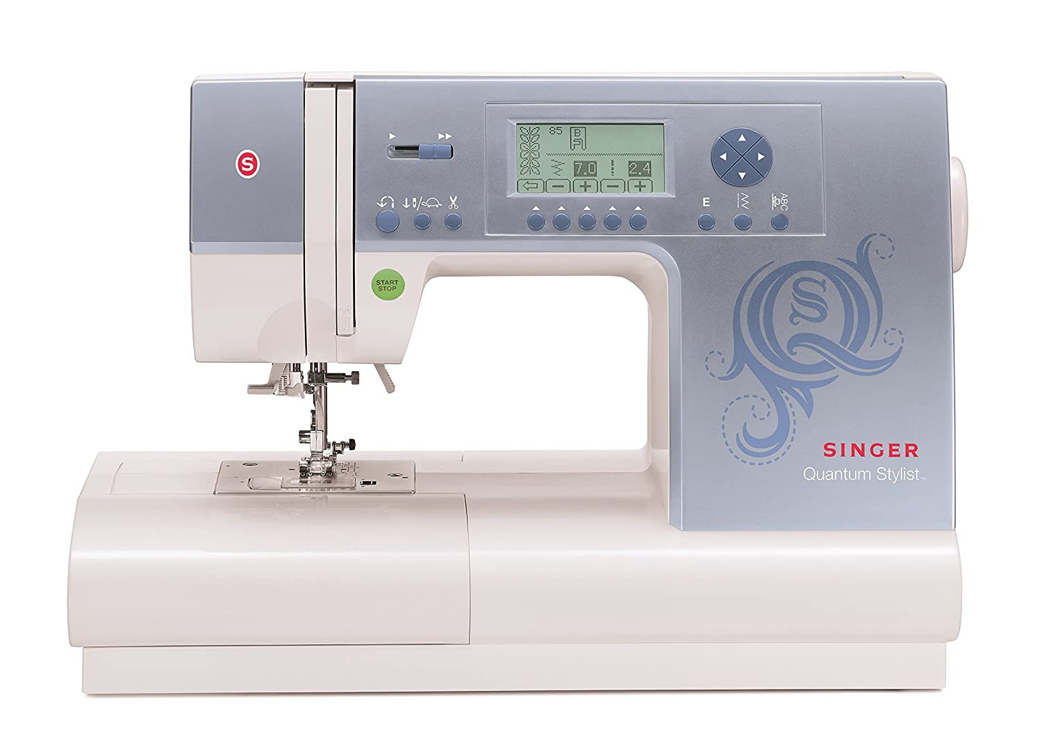 Singer Quantum Stylist 9980 Computerized Portable Sewing Pedal Wiring Diagram Kenmore Machine With 820 Stitches Electronic Auto Pilot Mode Extension Table And Bonus