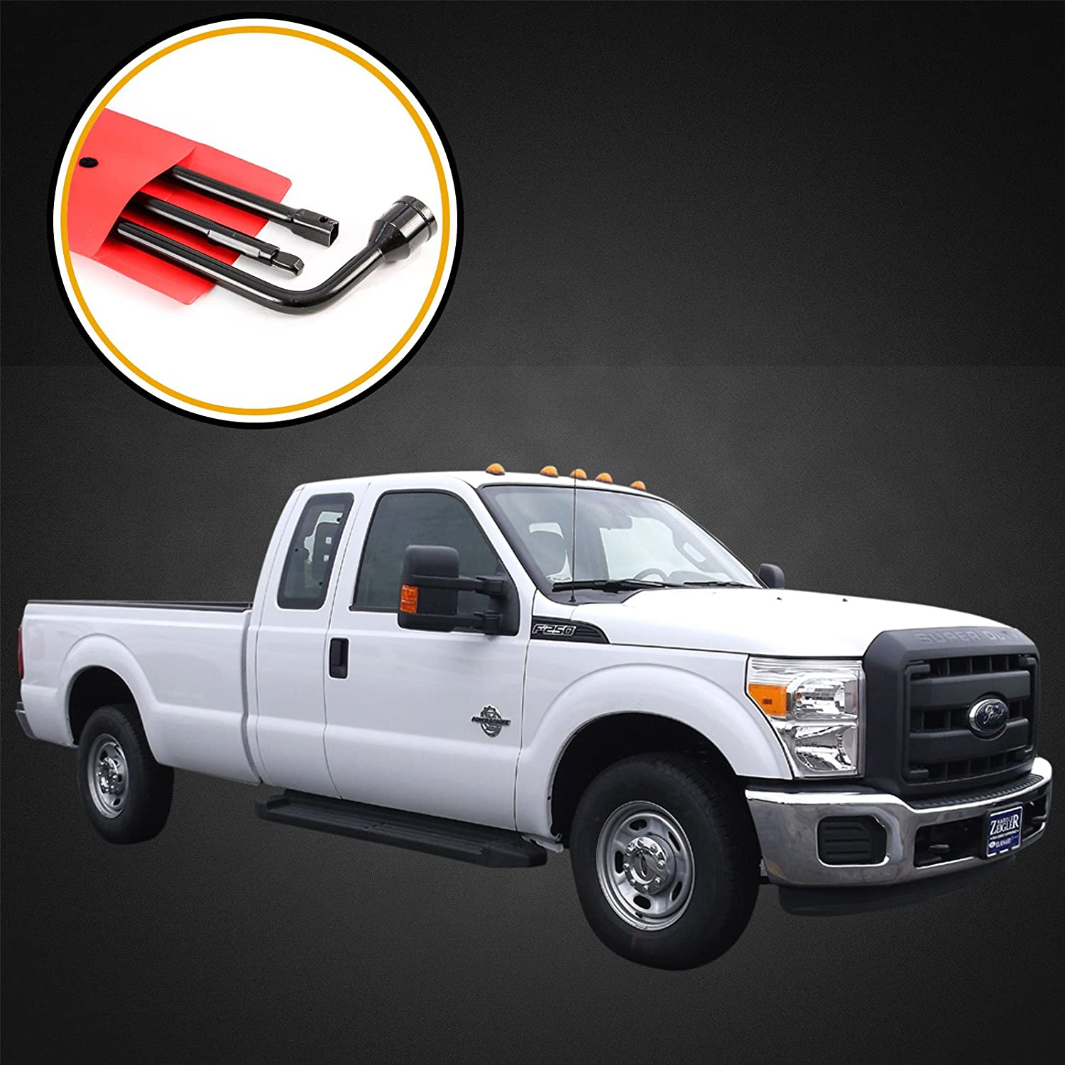 Red Hound Auto 2003 2007 Spare Tire Tool Replacement Set 89 Ford F 250 Fuel Filter Kit For Jack Compatible With Super Duty F250 F350 F450 F550 Automotive
