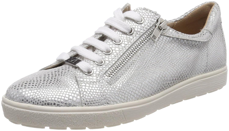 Caprice 23616, Zapatos de Cordones Derby para Mujer 40.5 EU|Plateado (Silver Reptile 991)