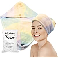 Toalla de microfibra para el pelo para mujer, fibras de pelo ultra absorbentes para secado rápido, turbantes de pelo…