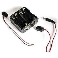 12 volt power 8 x AA batterij houder case met 2,1 mm x 5,5 mm DC Plug en kale draad eindconnectoren 12 V | voor CCTV…