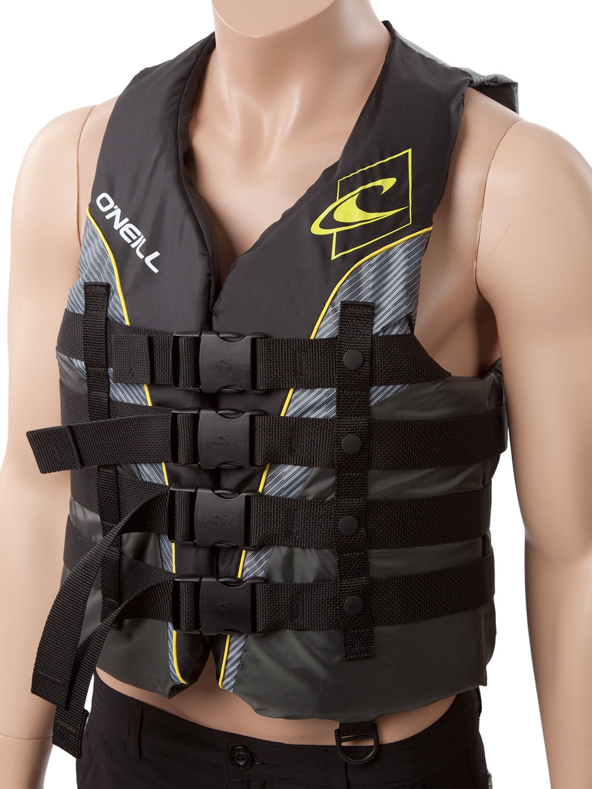 O'Neill Mens Superlite USCG Life Vest M Black/Graphite/Smoke/Yellow (4723) by O'Neill (Image #4)