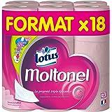 LOTUS Moltonel Uni Set de 18 Rouleaux de Papier Toilette