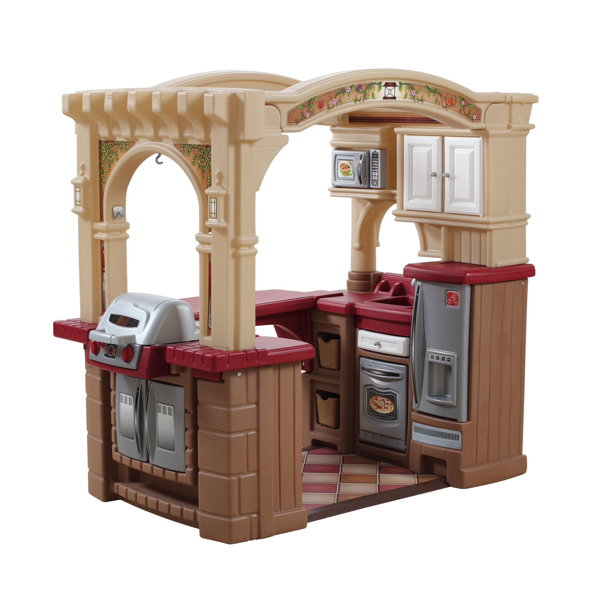 Step2  Grand Walk-in Kitchen and Grill, Brown/Tan/Maroon