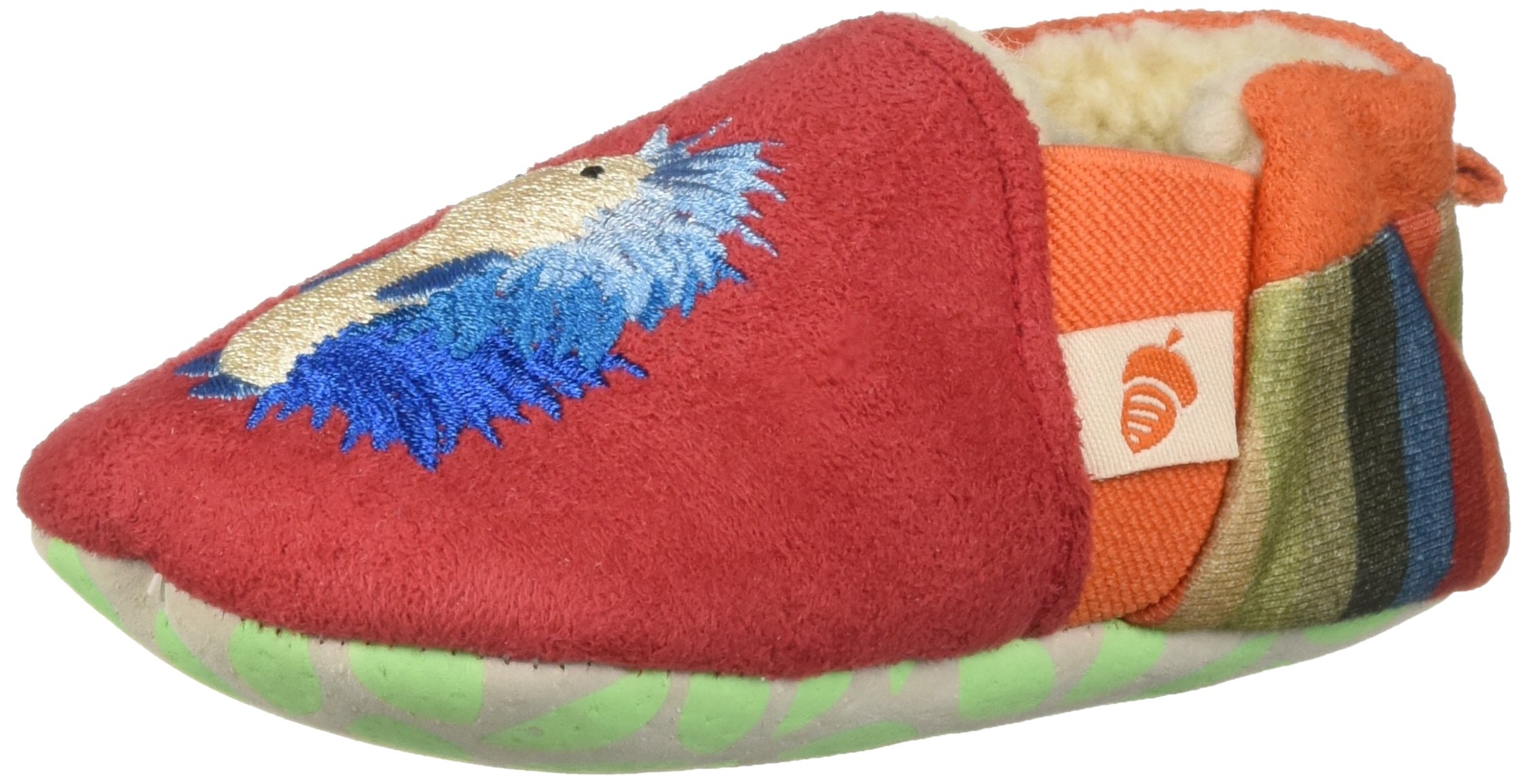 Acorn Baby Easy-On Toddler Moc Slipper, Red Hedgehog, X-Large by Acorn