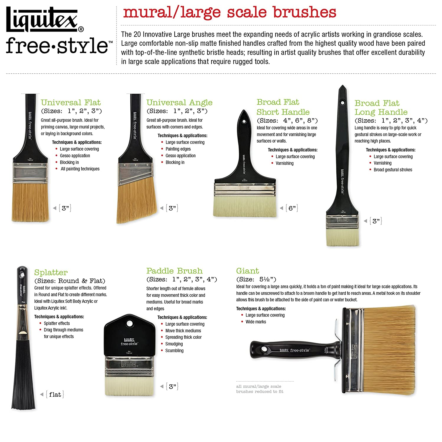 Liquitex Professional Free Style Brosse /à projection plate