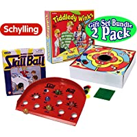 Schylling Tiddley Winks & Skill Ball Marble Game Classic Games Bundle - 2 Pack