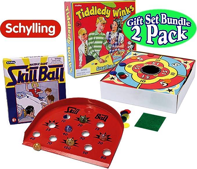 Schylling Tiddley Winks & Skill Ball Juego de Mesa de mármol ...