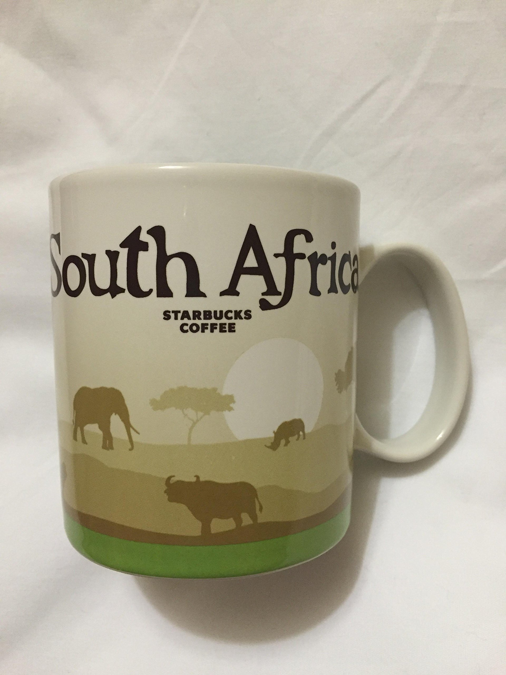 Starbucks South Africa Icon Coffee Mug Safari Lion Tree of Life Elephant Fauna Rhino Sunset New
