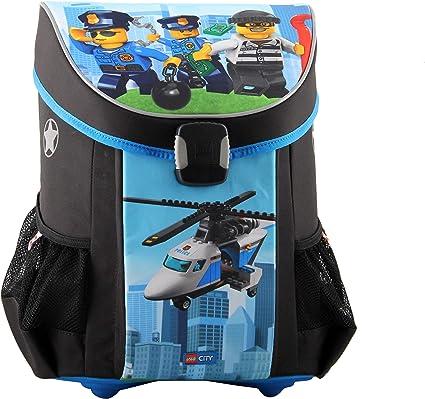 LEGO Bags LEGO Bags Schulranzen Set Easy Ranzen nur 790 g Urban 3 teilig Schulset mit LEGO NINJAGO Motiv Schoolbag Set 40 Centimeters 22 Blue